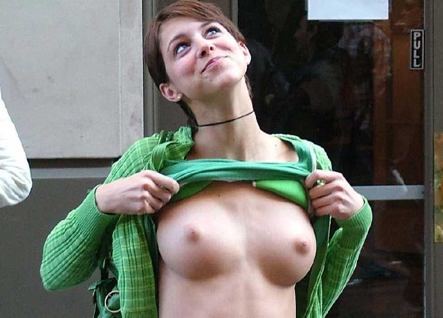 College Girl Flashing In Public