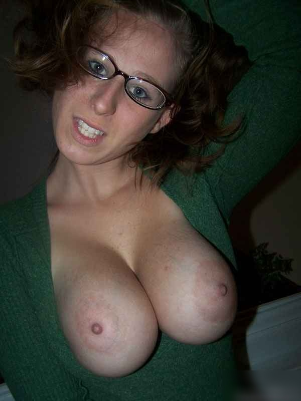 College Girl Wearing Glasses