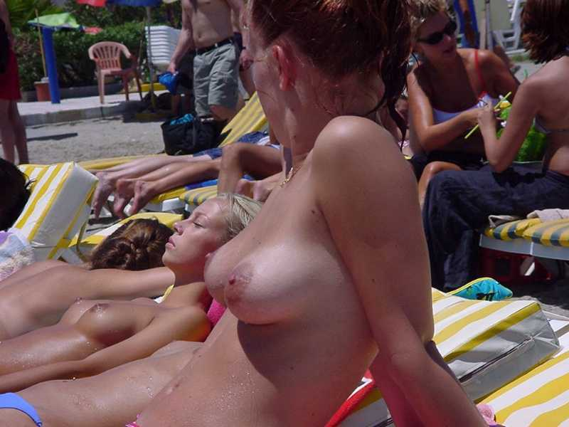 College Girls on a Nude Beach